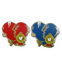 Buy cheap Hot Sale Red And Blue Heart Shaped Lapel Pins Badges National Flag Lapel Pins from wholesalers