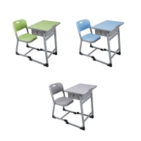 Buy cheap Study Table And Chair Set 760*650*450mm Steel School Furniture from wholesalers