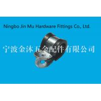 Buy cheap professional 9 mm Bandwidth R Type Gas Hose Clamps With Black Rubber Lined from wholesalers