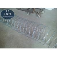 Buy cheap High Security Galvanized Concertina Cross Razor Barbed Wire Fencing from wholesalers