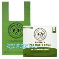 Buy cheap disposable Compostable dog poop bag for Pet Cleaning, Earth-Friendly Leak-Proof Dog Poop Waste Bags with Easy-tie Handle from wholesalers