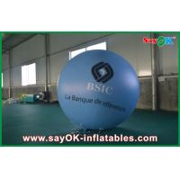 Buy cheap 0.18mm 1.5m Blue PVC Outerdoor Inflatable Advertising Balloon With Logo Print For Event from wholesalers