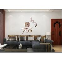 Buy cheap Large Fashion Decorative Mirror Clock / Wall Decal Clocks , Silent Movement from wholesalers