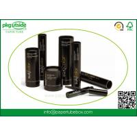 Buy cheap Black Custom Cardboard Tubes , Paper Cylinder Containers For Eyelash Packaging product