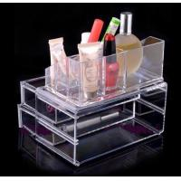 Buy cheap Non-toxicity Acrylic Cosmetic Display / Portable acrylic makeup box from wholesalers