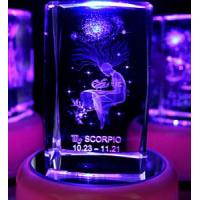 Buy cheap Scorpio Laser Etched Crystal Cube (JC43788CL) from wholesalers