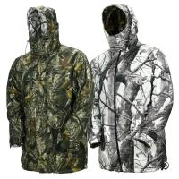 Buy cheap Adjustable Cuffs Hunitng Camo Multi-Functional Reversible Fishing Camo Jacket With Detachable Hood from wholesalers