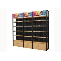 Buy cheap Cold Rolled Steel Supermarket Shelving Wood Gondola Shelving Classic Style product