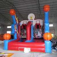Buy cheap Outdoor Blue and Red PVC Tarpaulin Cannonball Shooting Inflatable Sports and Air Blaster Ball Games from wholesalers