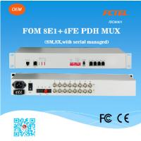 Buy cheap 10/100Mbps 8E1 fiber mux PDH multiplexer from wholesalers