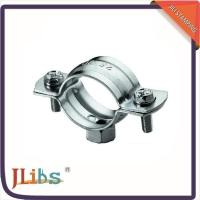 Buy cheap Metal Tube Clips Galvanized Pipe Clamps , Galvanised Pipe Brackets With M7 Nut from wholesalers