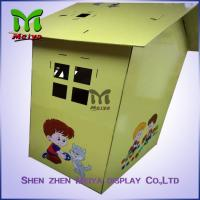 Buy cheap Custom Painting Corrugated Cardboard Kids Toys Eco - friendly Paperboard Playhouse from wholesalers