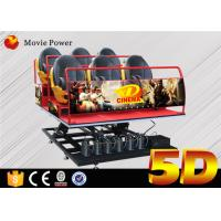 Buy cheap 6Dof  Flight Simulator Motion Platform 5D Movie Theater With 5d Chair 5d Seat from wholesalers