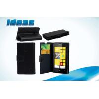Buy cheap Black PU Leather Smartphone Cases for Nokia lumia 920 , Wallet Design from wholesalers