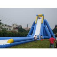 Buy cheap Amazing Single Lane Jungle Blow Up Slip And Slide For Adults In Playing Center from wholesalers