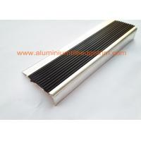 Buy cheap Anti Slip Aluminum Stair Nosing , Stair Safety Treads Nosings With Black PVC Rubber from wholesalers