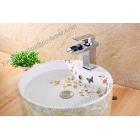 Buy cheap china wholesla brass basin waterfall faucet for bathroom,brass square waterfall wash basin faucet,bathroom square faucet from wholesalers