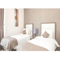 Commercial Hotel White Bedroom Furniture Sets , Economic Modern Apartment Furniture