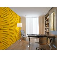 Quality Deodorizing PVC TV Background Wallpaper Wood Texture Composite Wall Panels Green for sale
