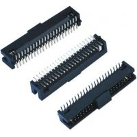 Buy cheap Black Female Pin Headers  Double Low 60 Pins SMT With Cap  LCP Plastic product