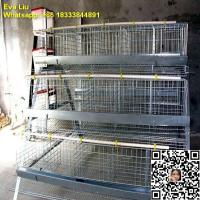 Buy cheap poultry farms A type galvanized chicken cages (whatsapp + 86 18333844891) from wholesalers