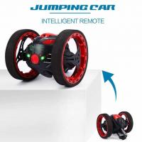 Buy cheap Mini Cars Bounce Car PEG SJ88 2.4GHz RC Car with Flexible Wheels Rotation LED Light Remote Control Robot Car Toys for Gi from wholesalers