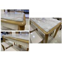 Buy cheap Marble Top Solid Pine Coffee Table With Comfortable Chairs No Deformation from wholesalers