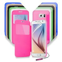 Buy cheap Windows S - view Battery flip cell phone cases For Samsung Galaxy S6 G9200 from wholesalers