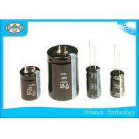 Buy cheap Standard Frequency Electrolytic Radial Capacitor , Black 22000uf 25v Capacitor CD110 from wholesalers