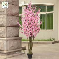 Buy cheap UVG CHR053 pink cherry blossom bonsai tree with artificial flowers for party decoration from wholesalers