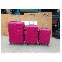 Colorful ABS Trolley Luggage , Hard Shell Carry On Luggage With Normal Combination Lock
