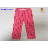 Buy cheap Small Floral AOP Cute Baby Girl Leggings No Side Seam Shell Case Waistband from wholesalers