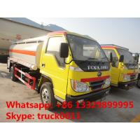 Buy cheap forland 4*2 RHD 5000 liters fuel tanker truck for sale, Factory sale best price forland 5m3 oil dispensing truck from wholesalers