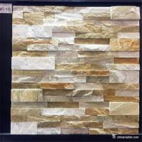 Buy cheap Slate Culture Stone High Hardness Yellow white Slate Culture Stone For Wall Cladding from wholesalers