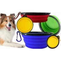 Buy cheap Fancy Soft Silicone Pet Supplies Food Pet Cat Dog Bowl Feeder 175*130*73mm from wholesalers