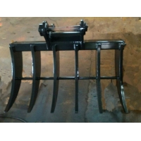 China Excavator Root Rake For Hitachi EX350 2400mm Wide Good For Farm Jobs on sale