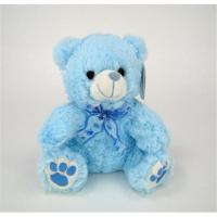 Buy cheap 8cm Small Blue Teddy Bear Stuffed Animal Paw Print For Boy Baby Shower Gift from wholesalers