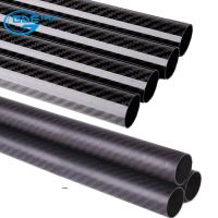 Buy cheap 3K Glossy Twill Woven Carbon Fiber Wrapped Tube/Tubes/Tubing from wholesalers