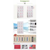 Buy cheap Metal adjustable shelf knock-down 12 door clothing steel lockers, cyber lock from wholesalers