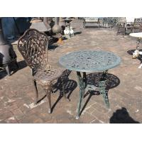 Buy cheap Antique Cast Iron Patio Set Table Chairs Garden Furniture Erosion Resistance from wholesalers