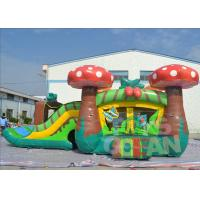 Buy cheap Jumping Childrens Inflatable Bouncer Combo Mushroom Moonwalk With Slide from wholesalers