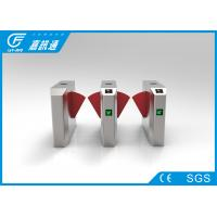 Buy cheap Subway Turnstile Barrier Gate Infrared Sensor , Waist High Turnstile Automatic Reset Function from wholesalers