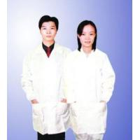 Buy cheap SMT dustproof cleanroom antistatic coat with zipper/ clasps from wholesalers