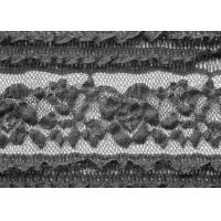 Buy cheap Soft Spandex Black Stretch Wedding Dress Lace Fabric With 130cm Width from wholesalers
