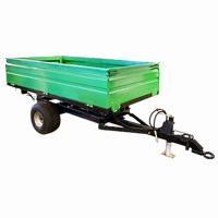 Buy cheap 2wheel Tractor end dump trailer  load capacity 1ton 2ton 3ton 4ton 5ton from wholesalers
