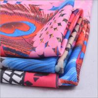 Buy cheap Rusha Textile  Polyester FDY Spandex Imitation Digital Printing Peacock Fabric Prints from wholesalers