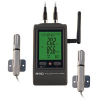 Buy cheap dual channels wifi temperature humidity logger, sensor, wireless transmission from wholesalers