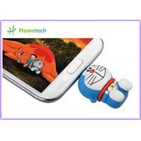 Buy cheap Rubber PC / Android OS 	Cell Phone USB Flash Drive , PVC OTG Thumb Drive Pink Green product