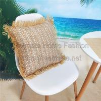 Buy cheap 85% PP Raffia+15% PET,18*18 inch,White,grey,red,pink,Patio Furniture Chair Seat Cushion Covers from wholesalers