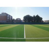 Buy cheap Smooth Outdoor Sports Flooring / PE Artificial Turf With Double Color product